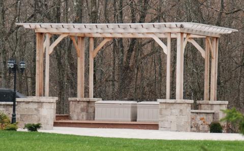 Pergola built by Great Lakes Landscape